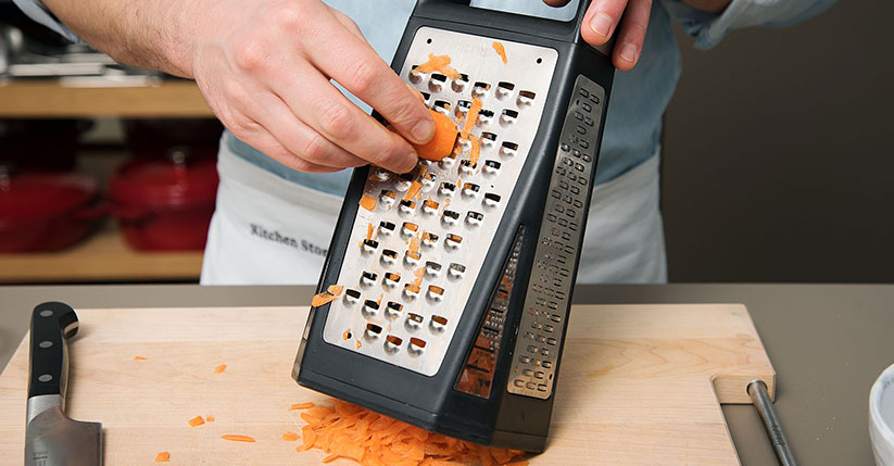Kurkuma Karotten raspeln