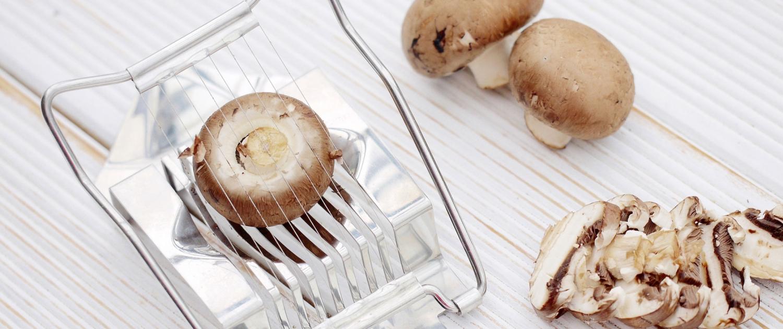Food-Hacks Pilze schneiden