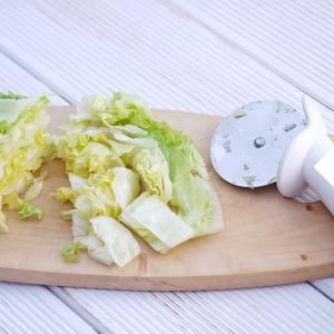 Food-Hacks Salat schneiden Pizzaschneider