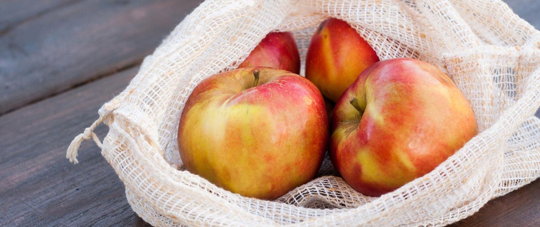 Ohne-Verpackung Netz Äpfel