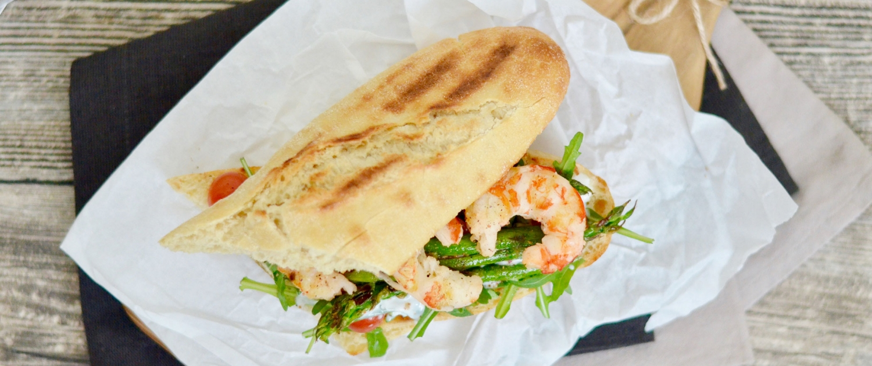 Markenbotschafter Sandwich Garnelen Graziella