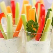 Gesunde Snacks Gemüse Schnack Streifen Schnittlauch