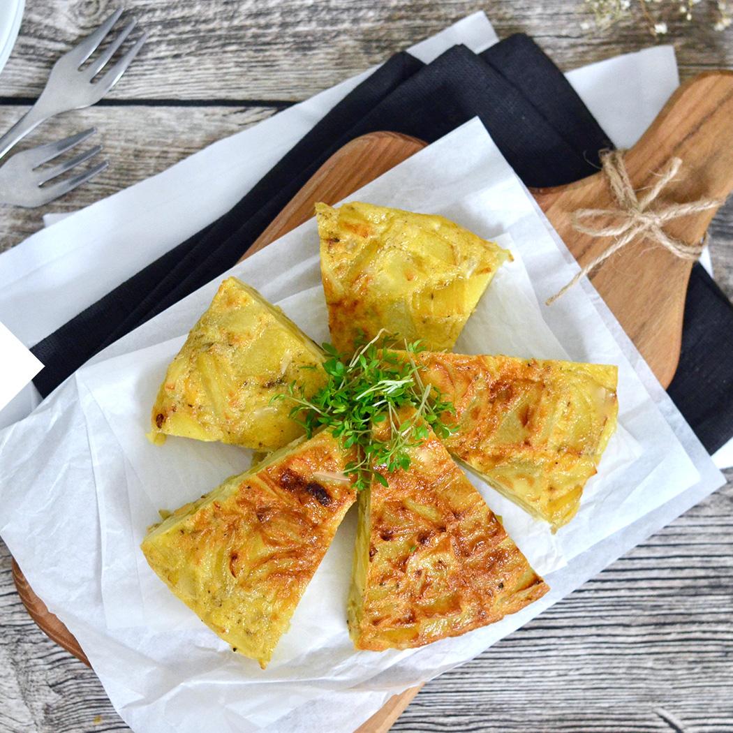 Gesunde Snacks Tortilla fettfrei in der Heißluftfriteuse gebacken