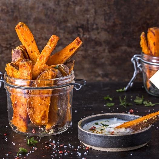 Heißluftfritteuse Süßkartoffelpommes