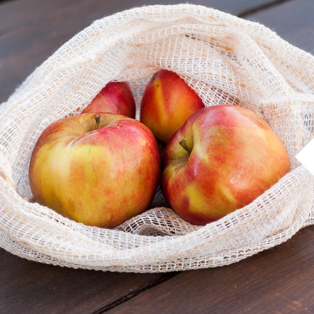 Minimalismus Äpfel im Netz