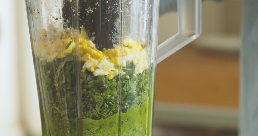 Grüne Sauce Zutaten Mixer
