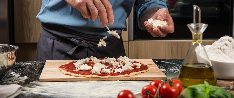 Italienische Küche Pizza Teig