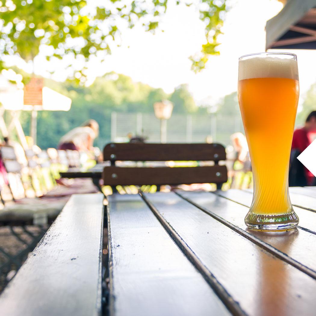 Bier, Biergarten