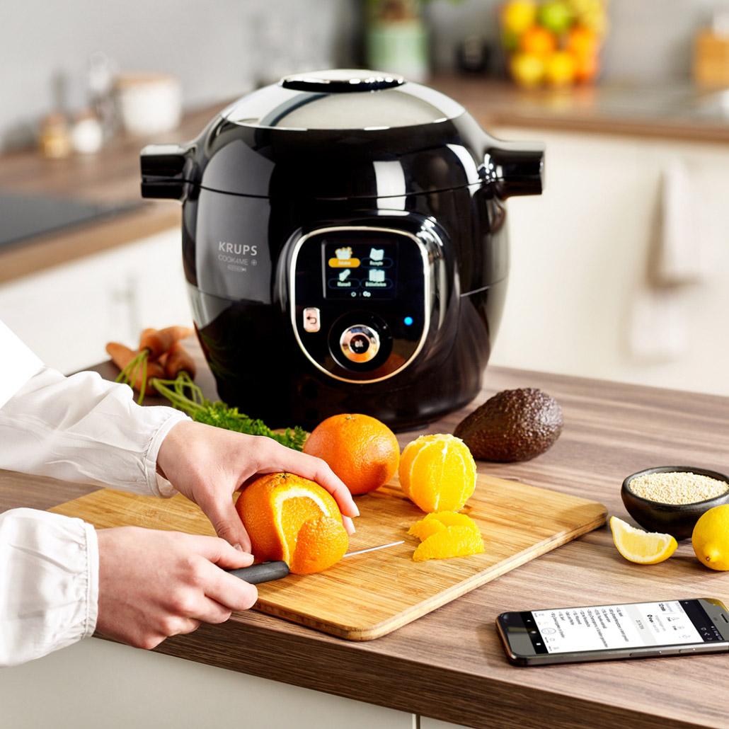Cook4me Wunderkessel schwarz Orange