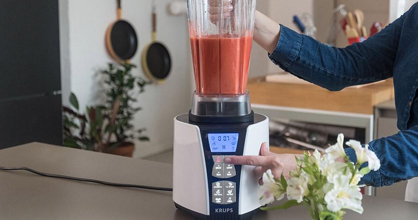 Wassereis Erdbeersorbet mit KRUPS Mixer