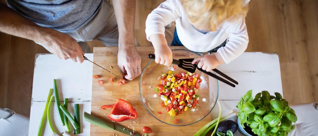 Kochen mit Kindern Salat