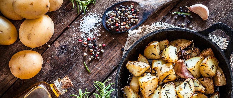 Kartoffel-Rezept in der Pfanne