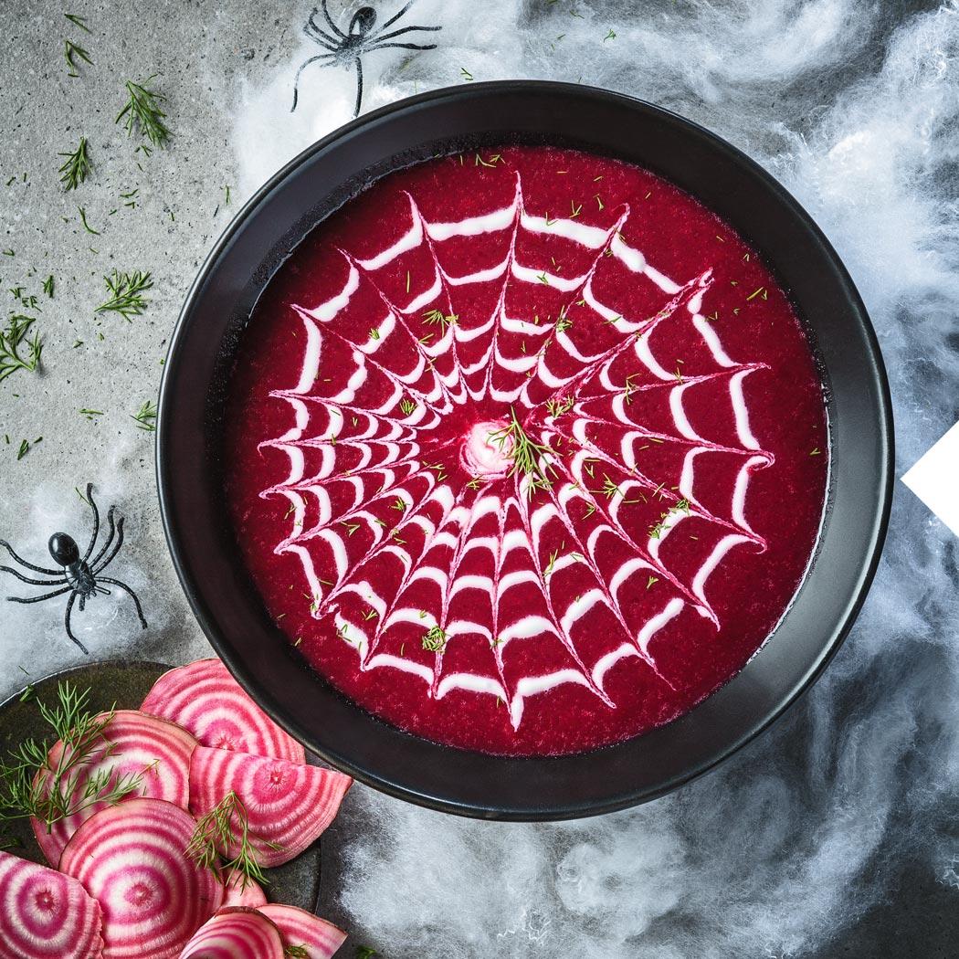 Halloween-Rezepte Spinnennetz