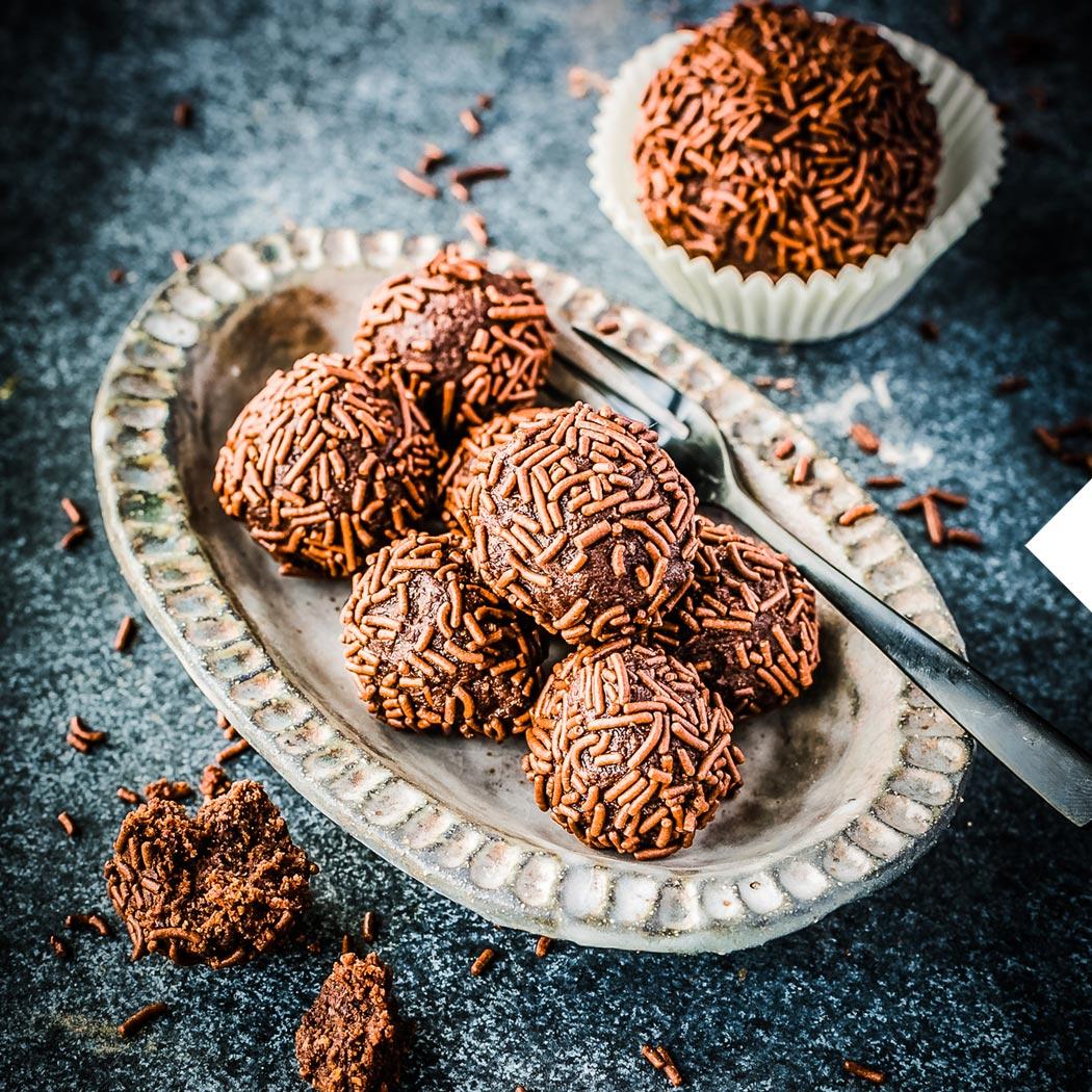 Schokoladen-Rezepte Rumkugeln