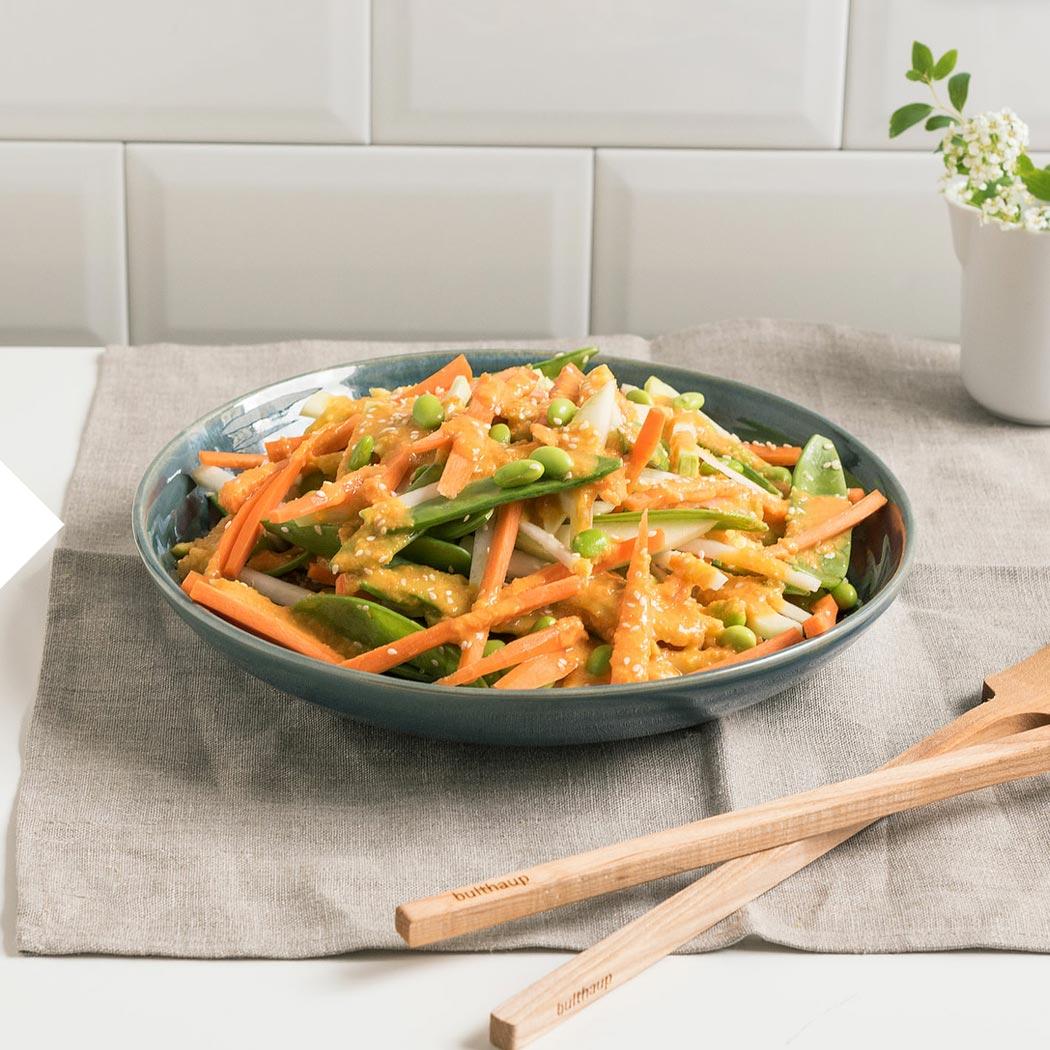 Kohlgemüse asiatischer Salat