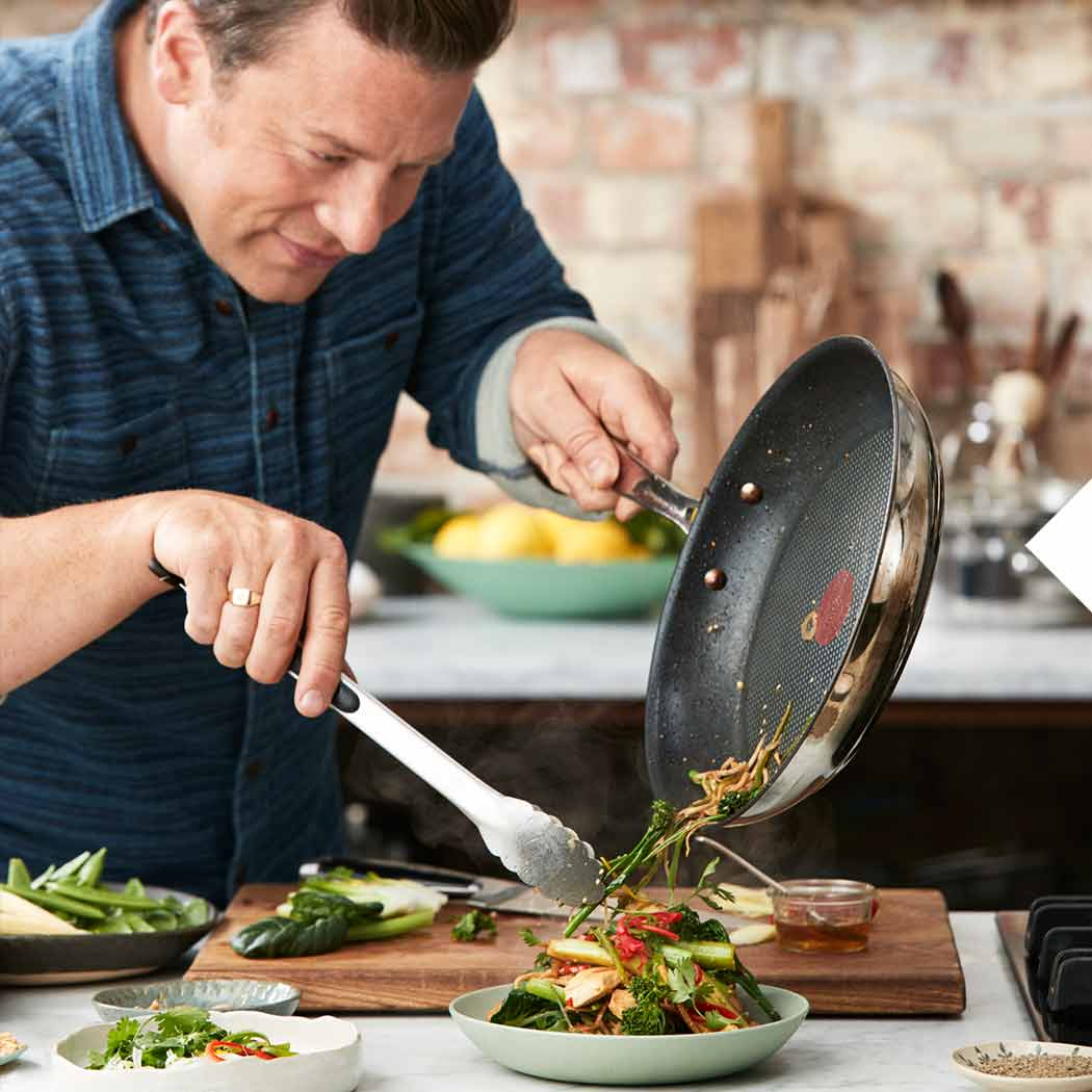 Jamie Oliver Tefal Pfanne kochen
