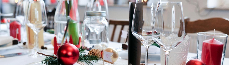 Festliche Gerichte Weihnachtstafel