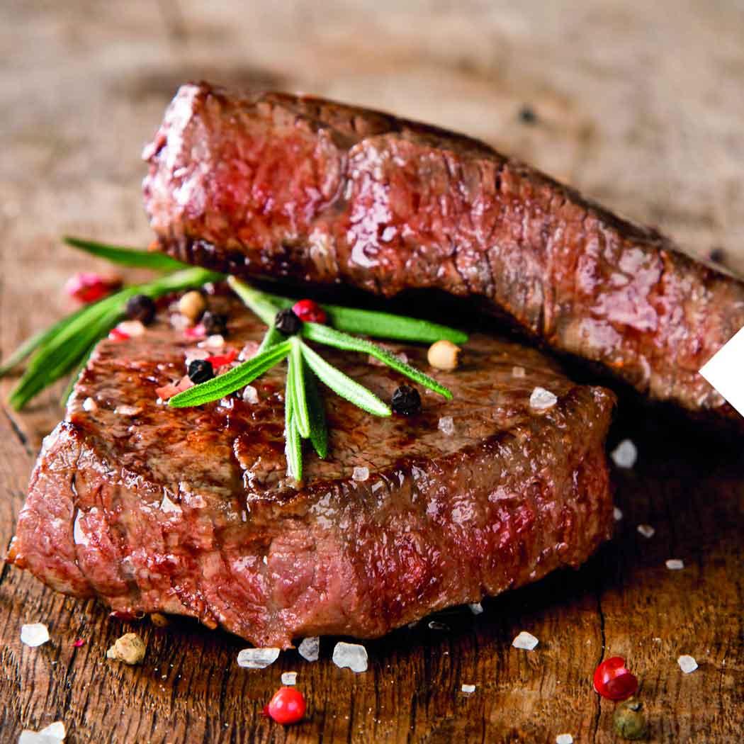 Wintergrillen Steak