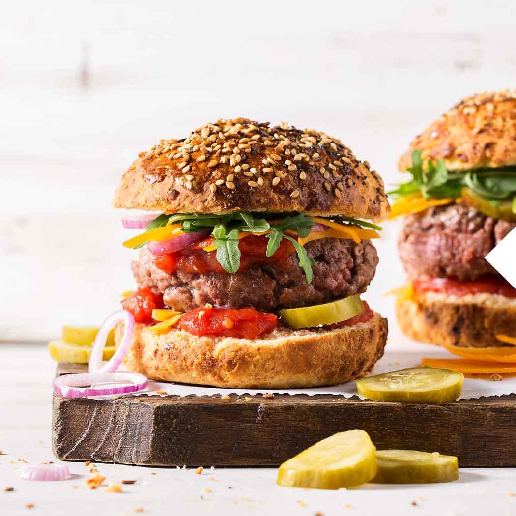 Wintergrillen Burger