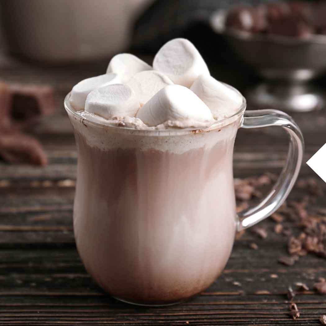 Wintergrillen heißer Kakao