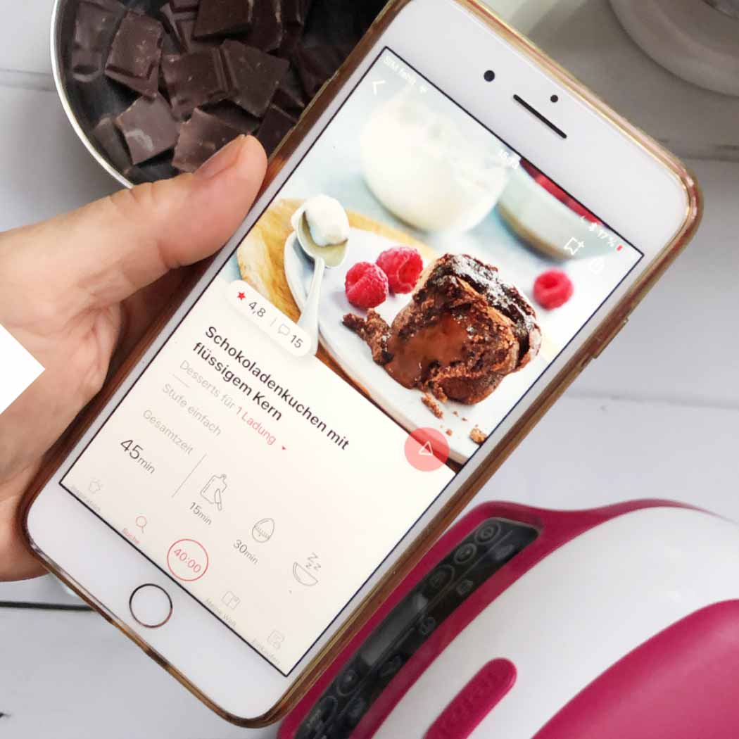 Food Apps Smartphone Schokoladenkuchen