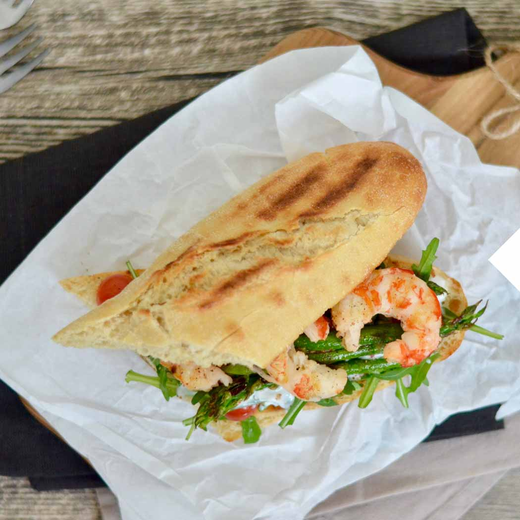 Sandwich Garnele