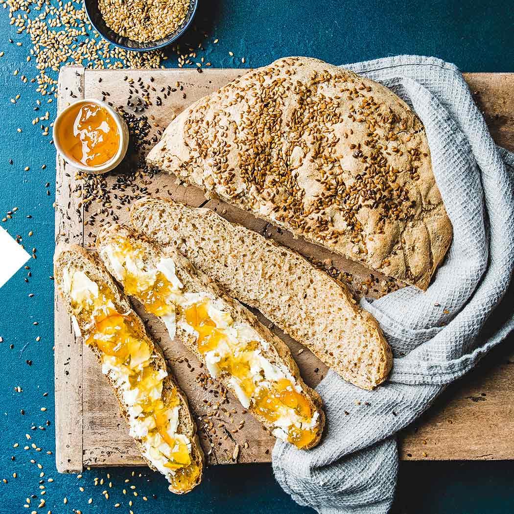 Brot backen Leinsamenbrot