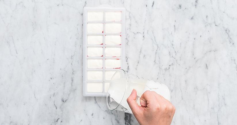 Eis selber machen Frozen-Yoghurt-Bites
