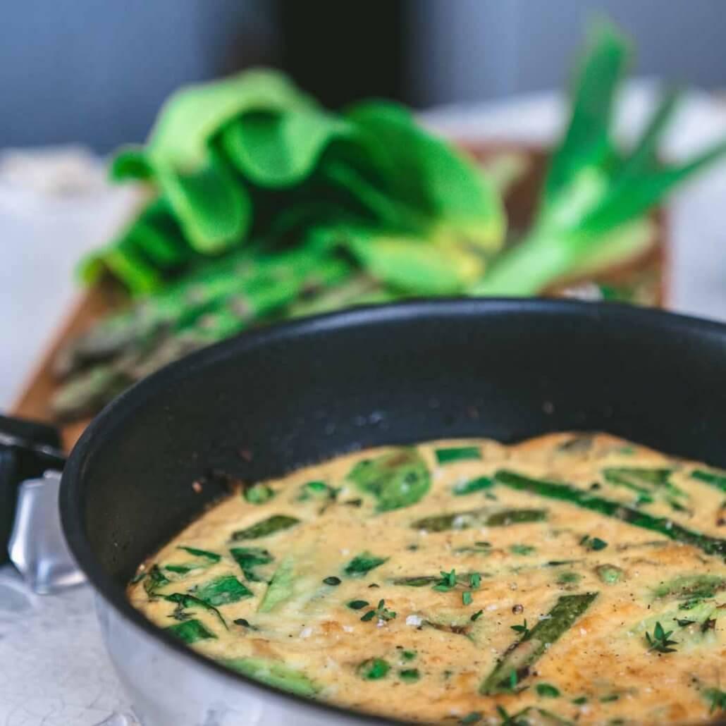 Frittata Rezept Pfanne mit Gemüse