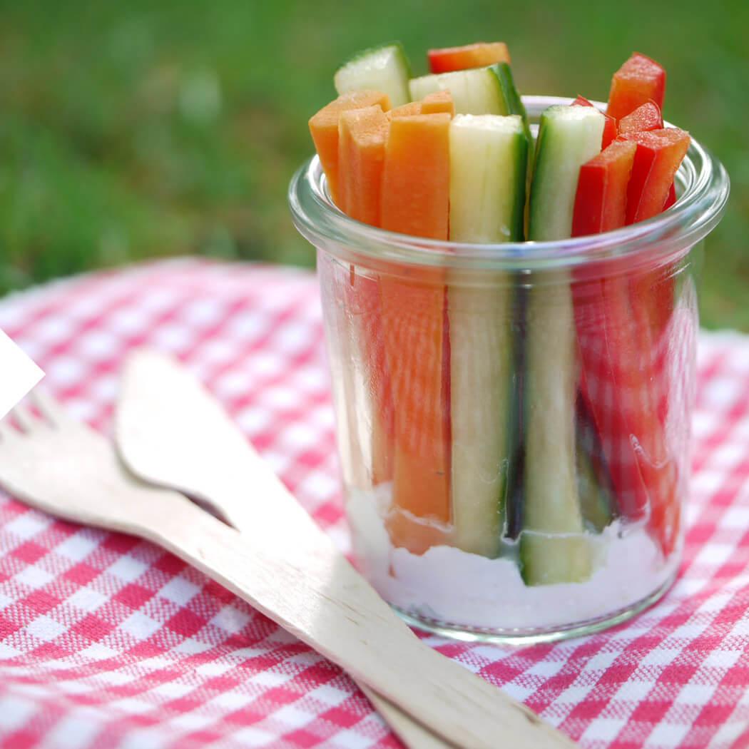 Picknick Gemüsesticks