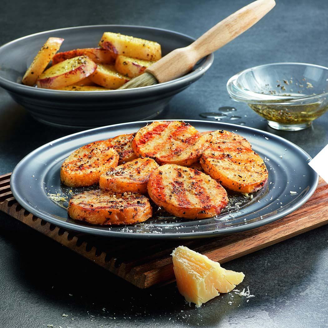 Veggie Grillen Kartoffeltaler