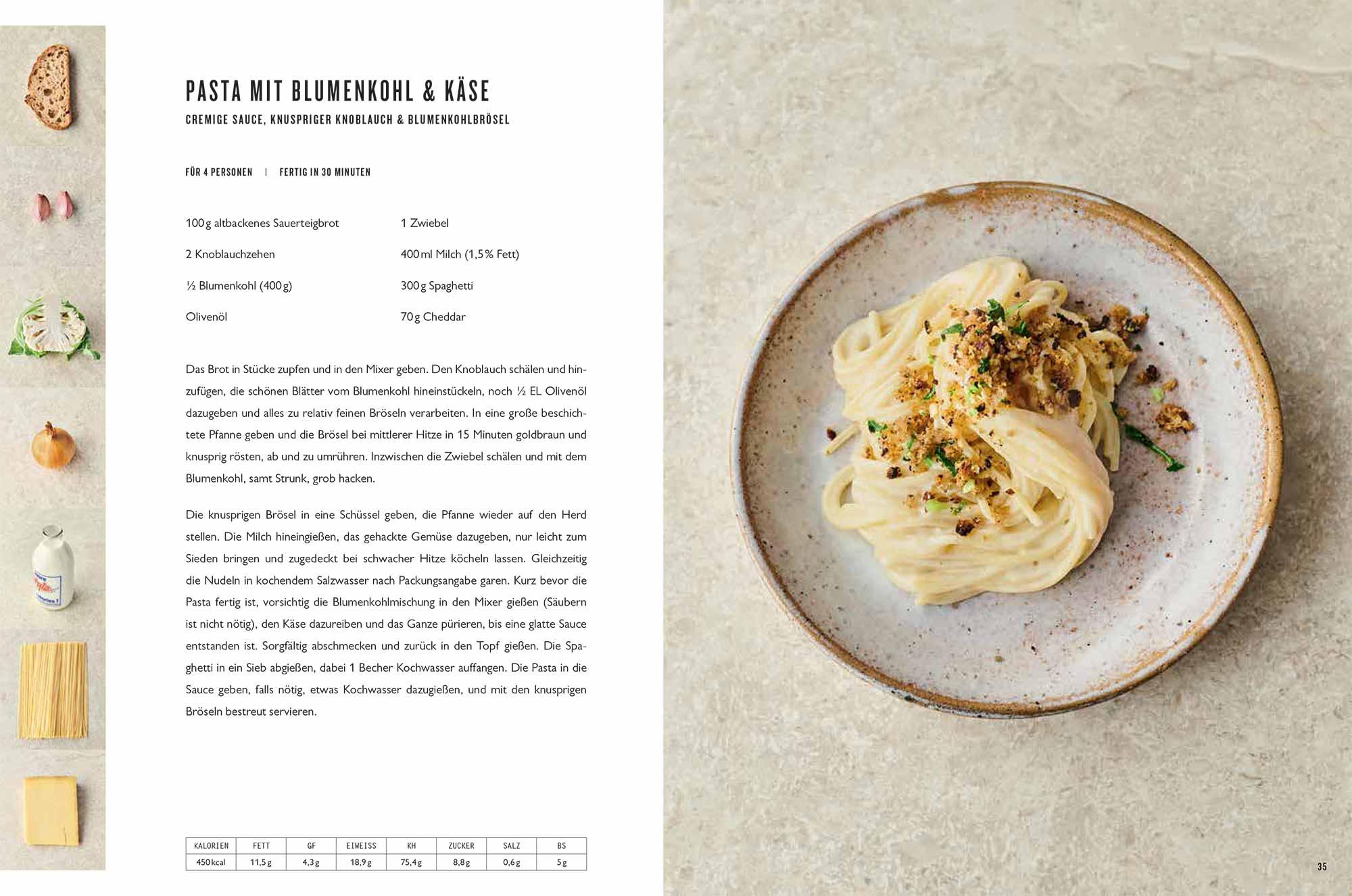 Jamie Oliver 7 mal anders 7 Ways Pasta mit Blumenkohl und Käse