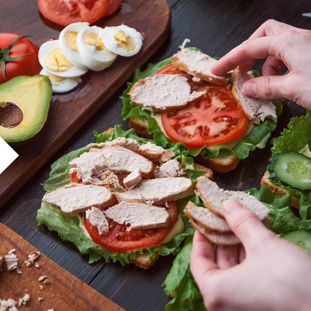 Sandwich Kontaktgrill Sandwich belegen