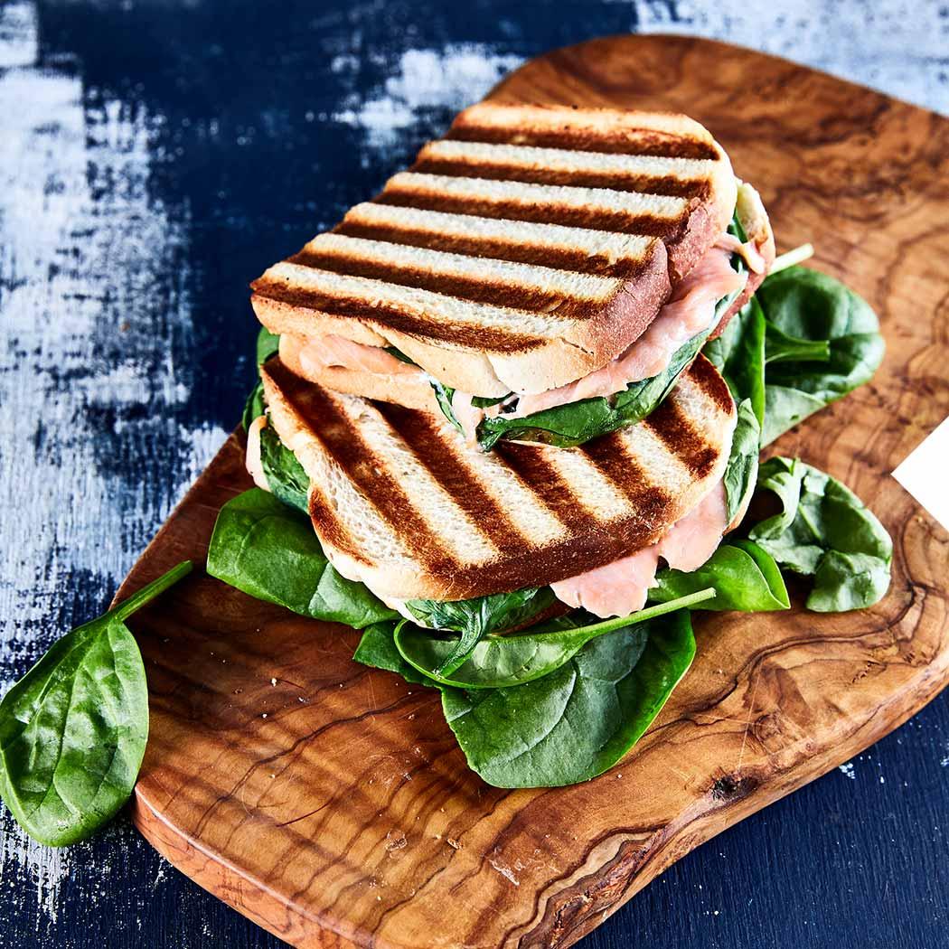 Sandwich Kontaktgrill gegrilltes Sandwich