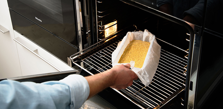 Kurkuma Frühstückskuchen Ofen Blech