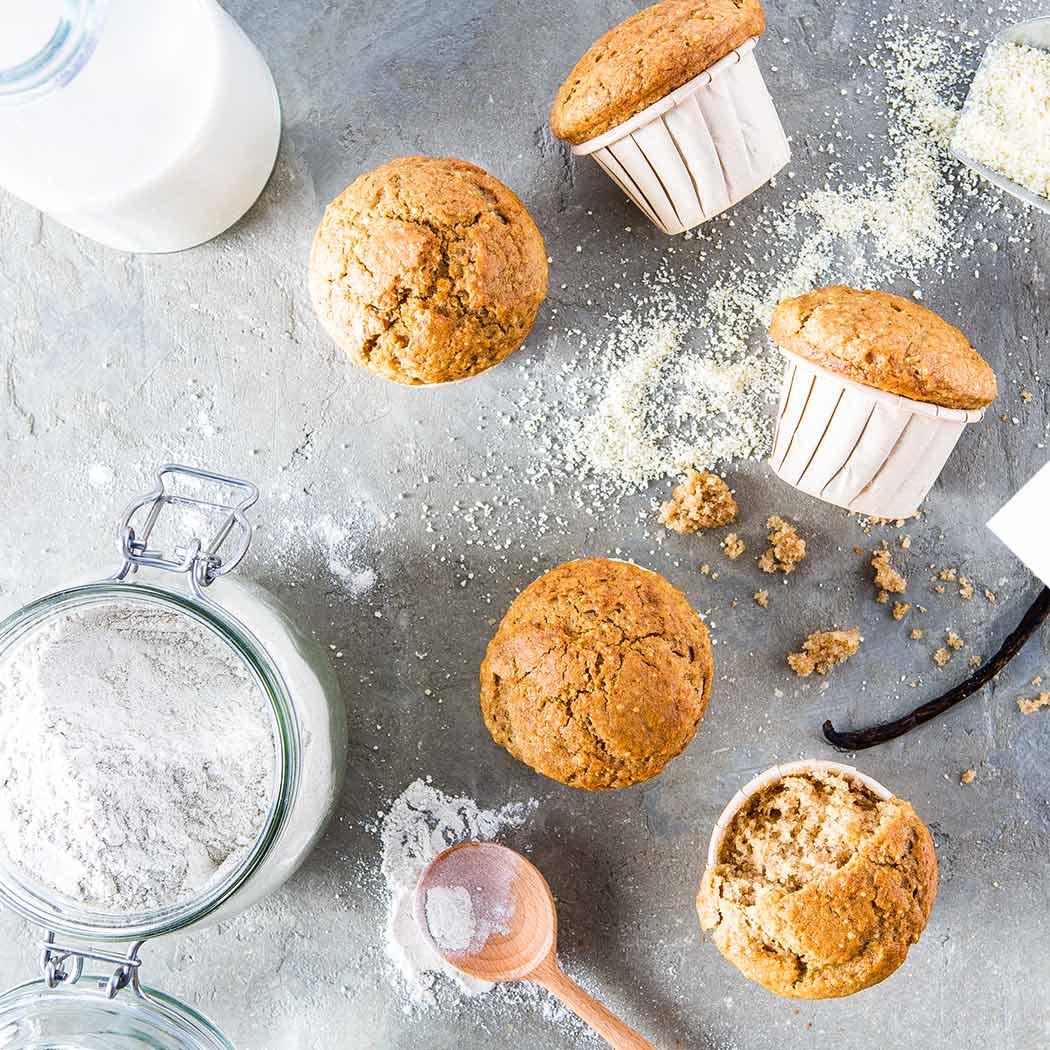 Muffins Vanillemuffins vegan