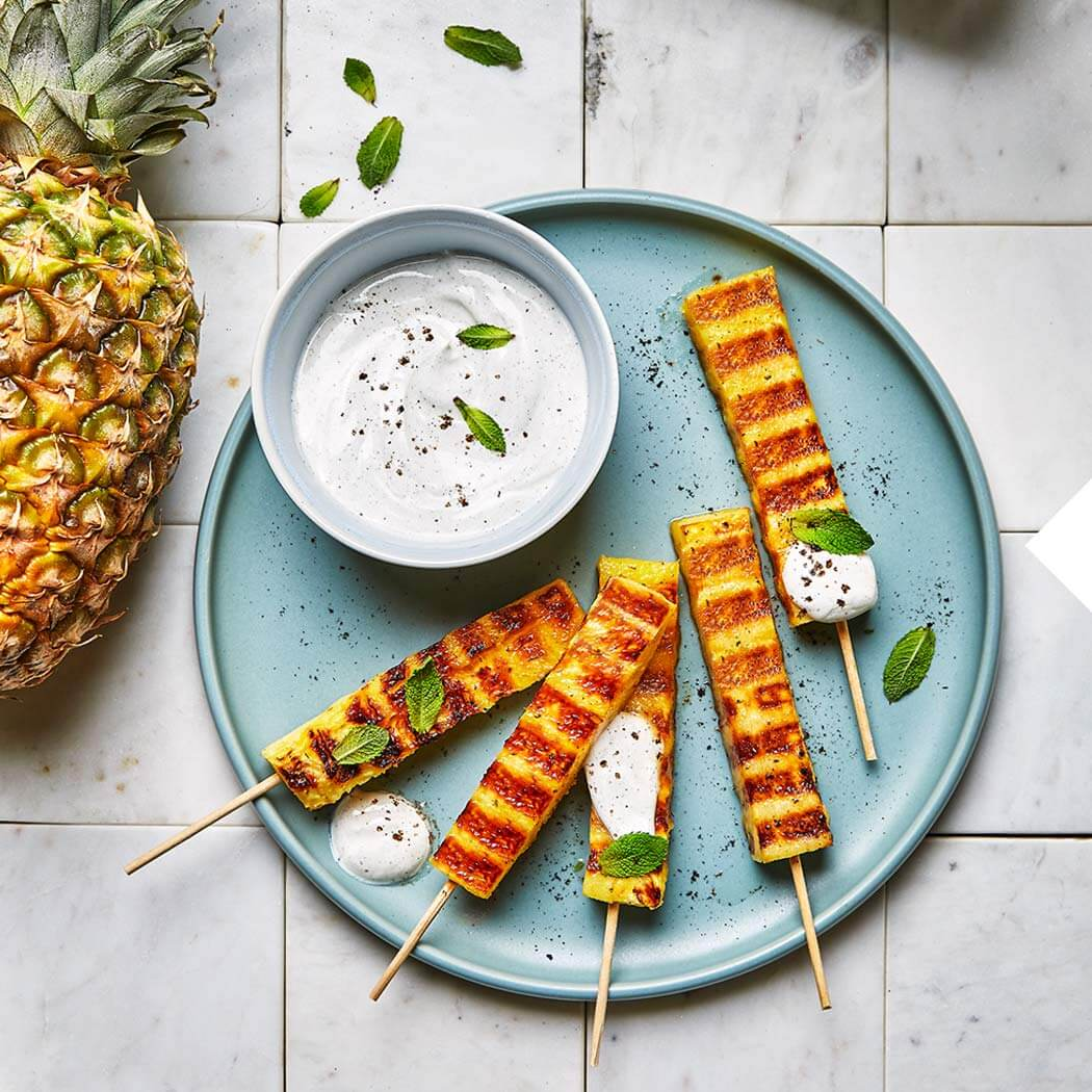 Kontaktgrill Grillen Vegan Obst