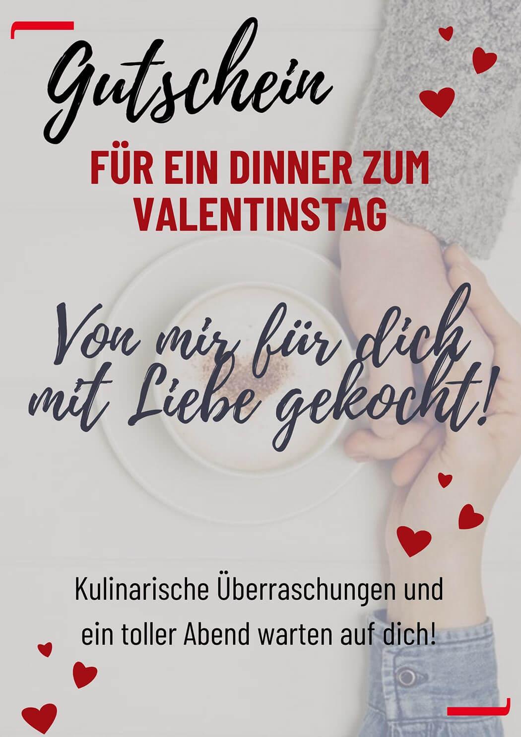 Valentinstag Dinner Gutschein