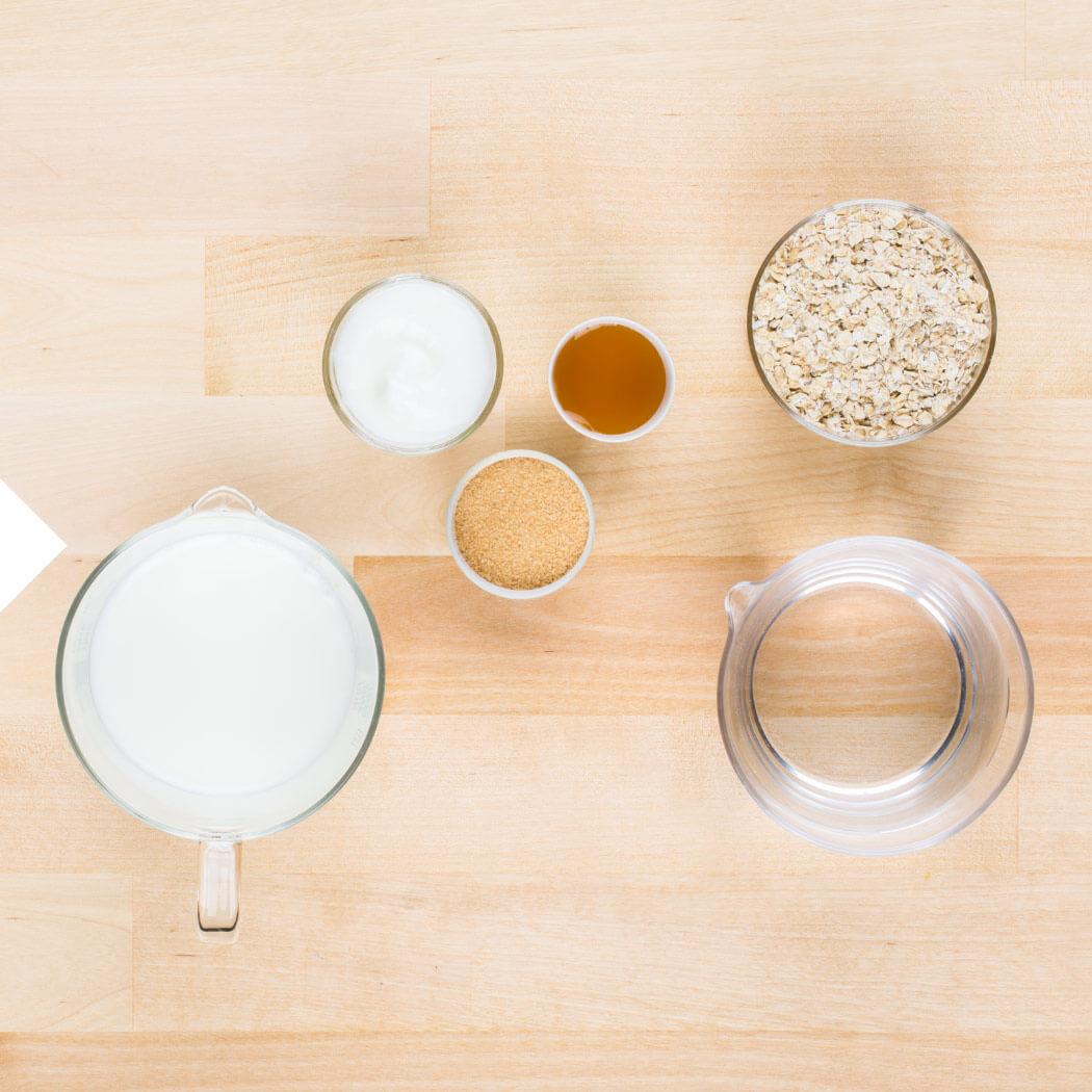 Haferflocken Porridge Granola Zutaten