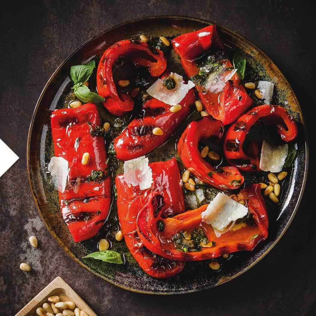 Grillido Gesund grillen gegrillte Paprika