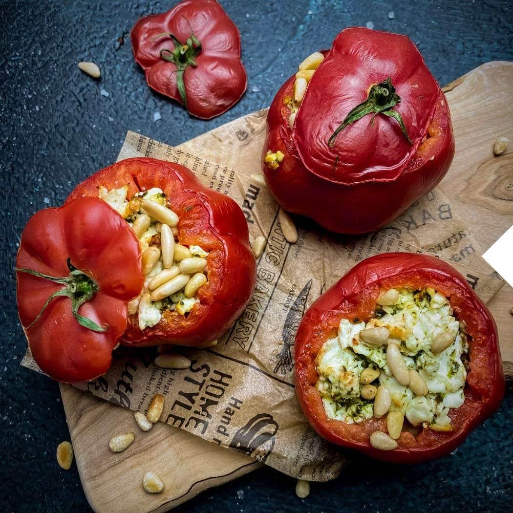 Grillido Gesund grillen gefüllte Tomate