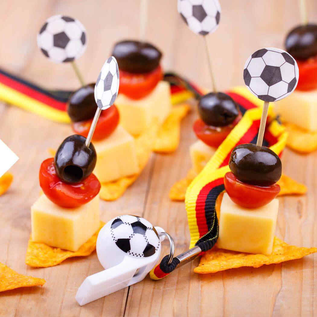 EM Europameisterschaft Fußball Party Gartenparty Spieße
