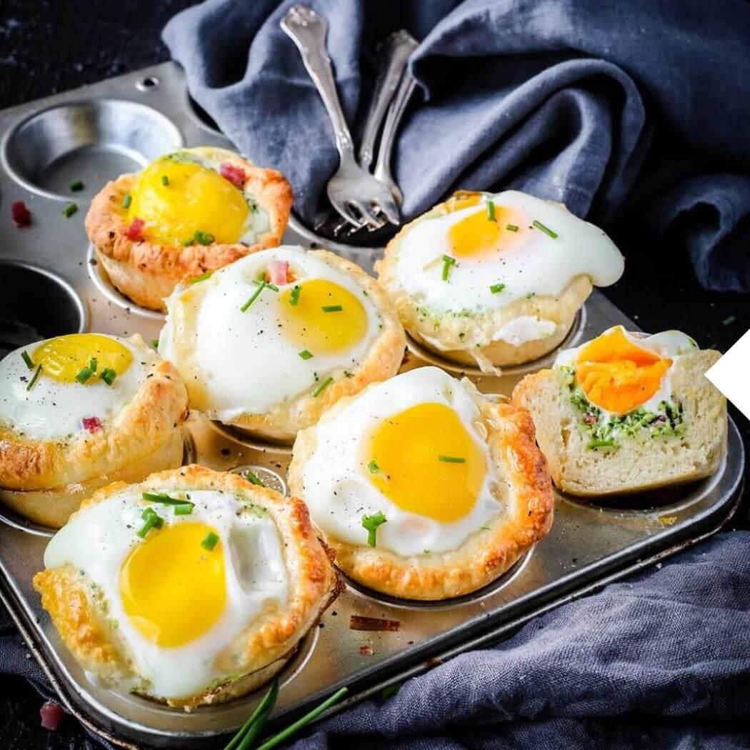 Hintergrundbild Homeoffice Egg-Muffins