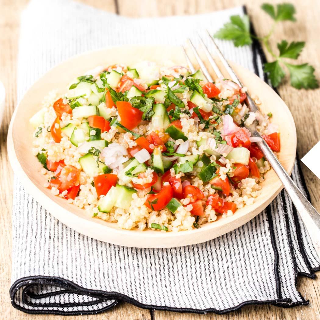 Vegetarische Sommergerichte Quinoa-Salat