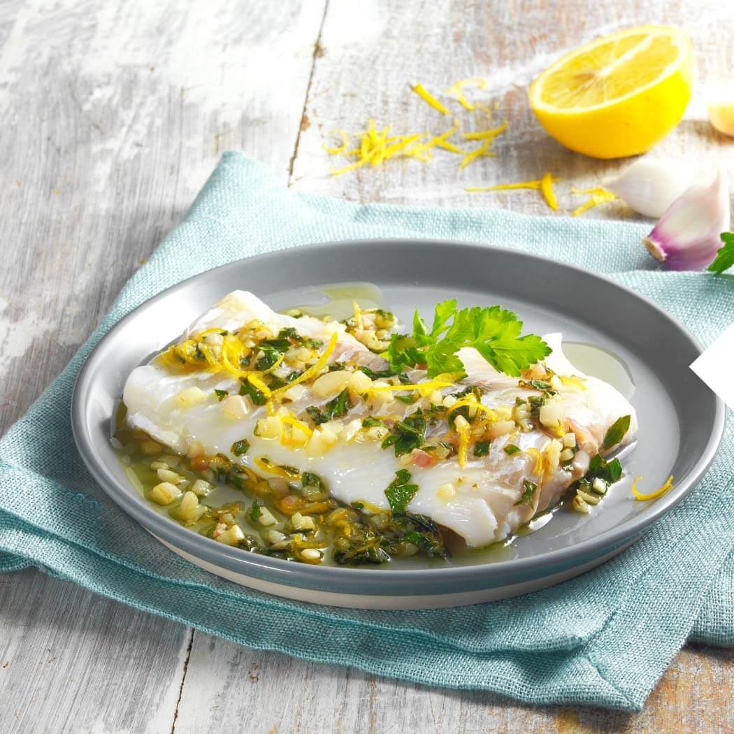 Fischgerichte Filet Zitrone