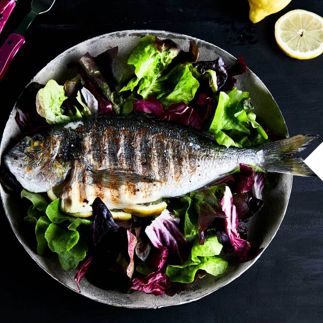 Fischgerichte Dorade vom Grill