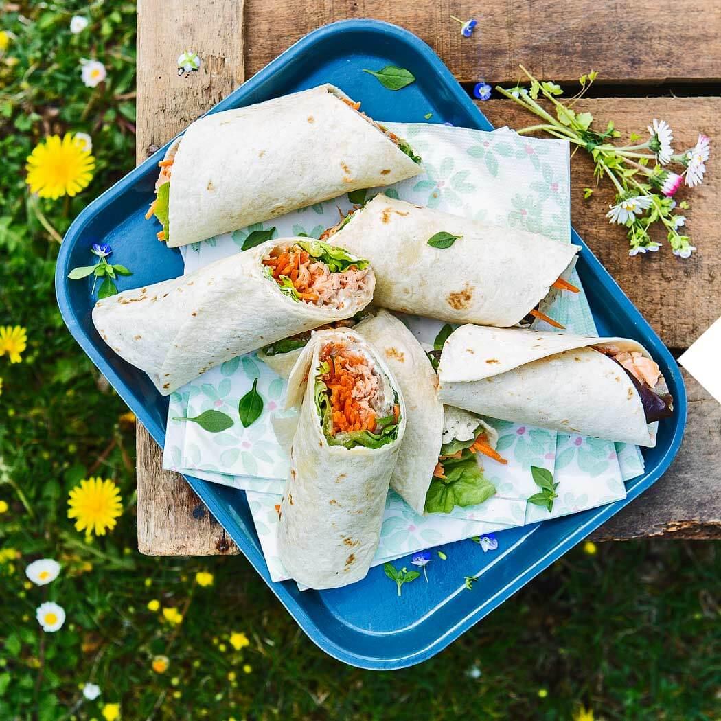Burritos Wraps Salat