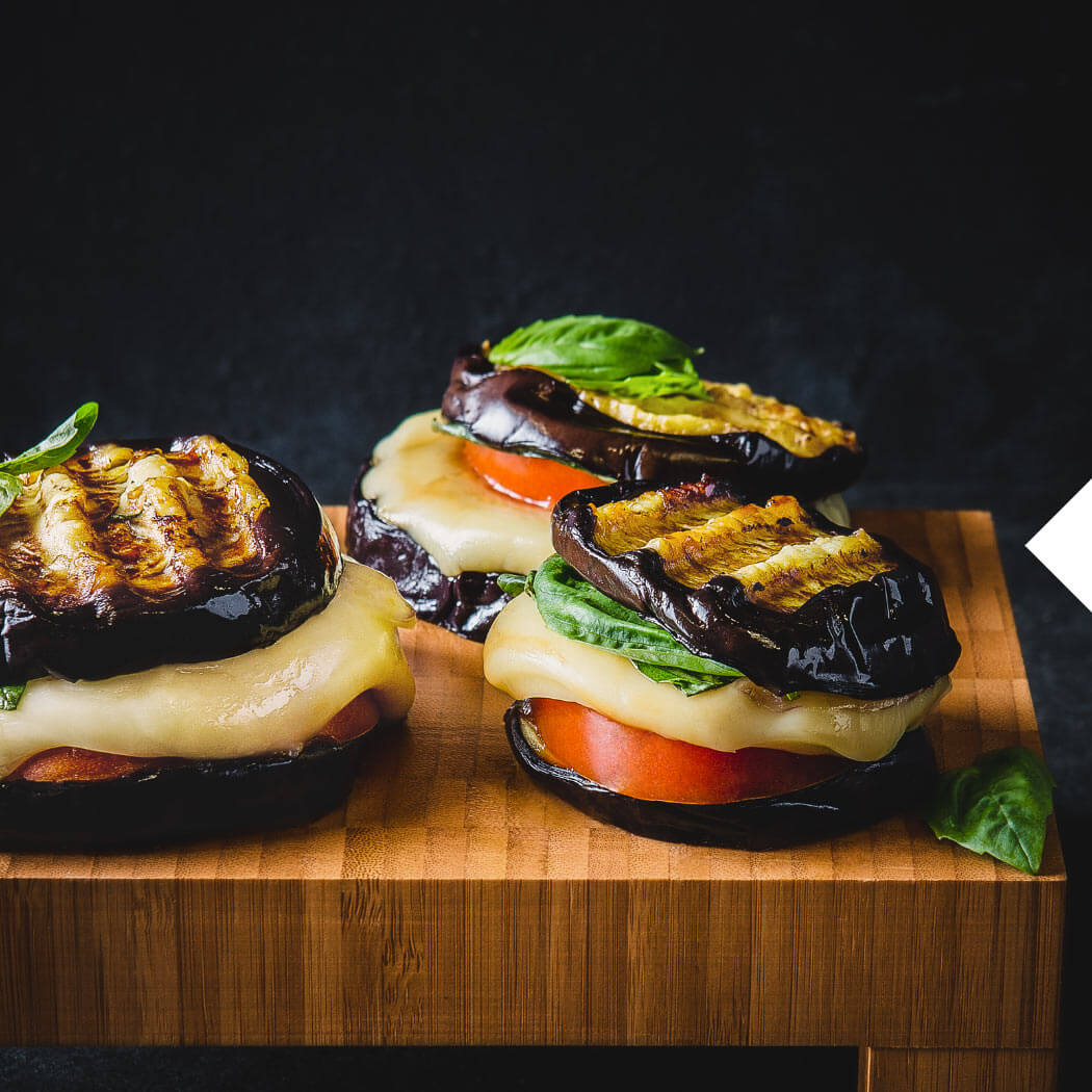 Saisonal August Auberginen-Burger