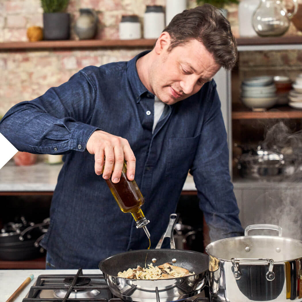 Jamie Oliver Rezepte Brokkoli Pasta Öl braten Pfanne