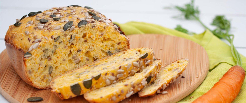 Karottenbrot backen Backautomat Brot Körner